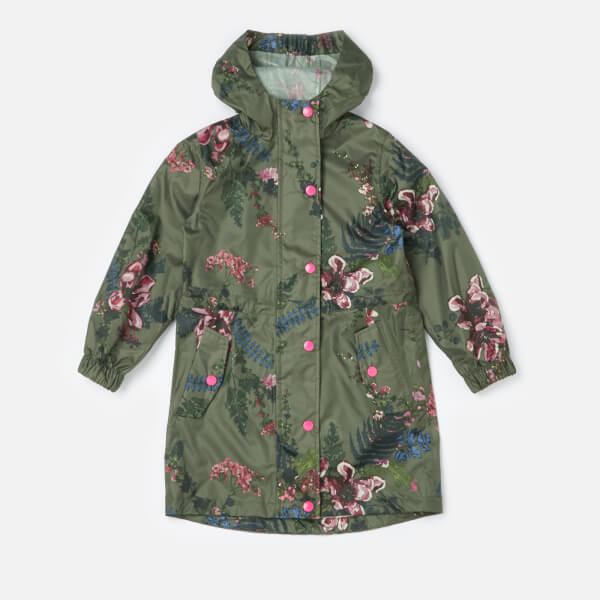 2c87b5c9aa2d Joules Girls  Golightly Packaway Waterproof Coat - Grape Leaf ...