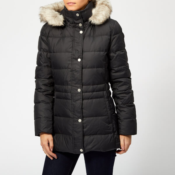 3169cfa7a32 Tommy Hilfiger Women s New Tyra Down Jacket - Black Beauty Womens ...
