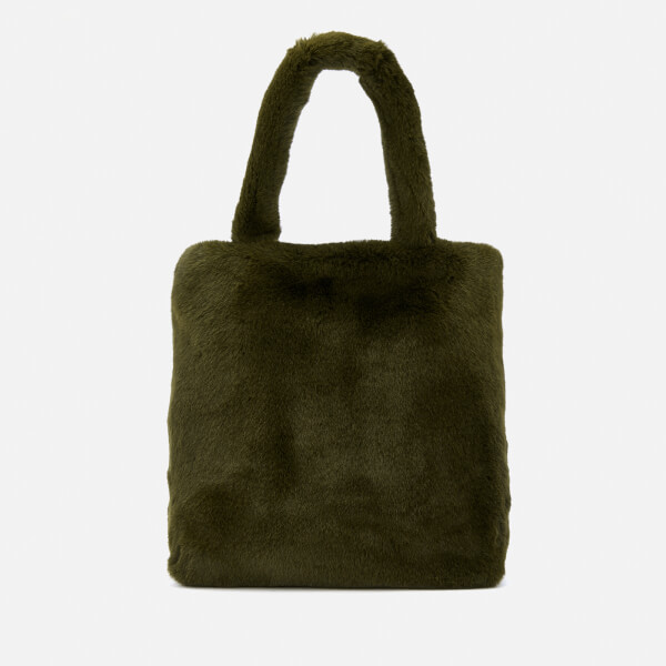 Whistles Women's Hattie Faux Fur Tote Bag - Khaki
