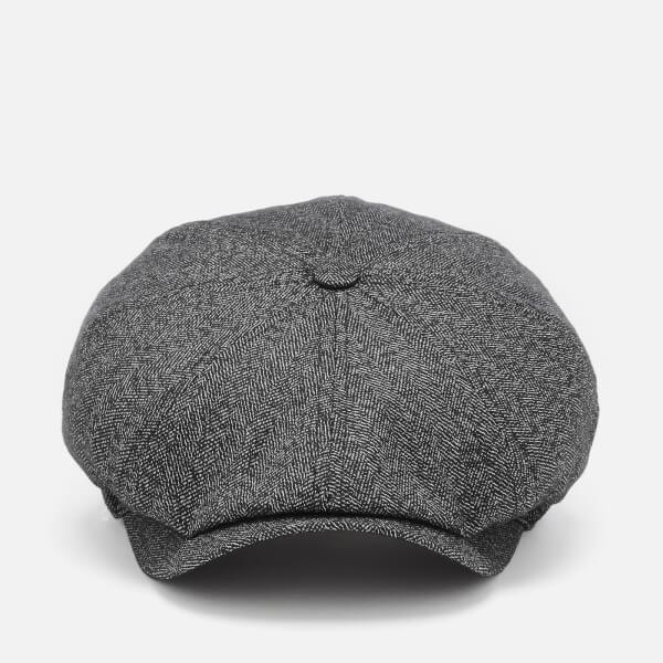 31911e31 Ted Baker Men's Tspoon Herringbone Bakerboy Hat - Charcoal: Image 1