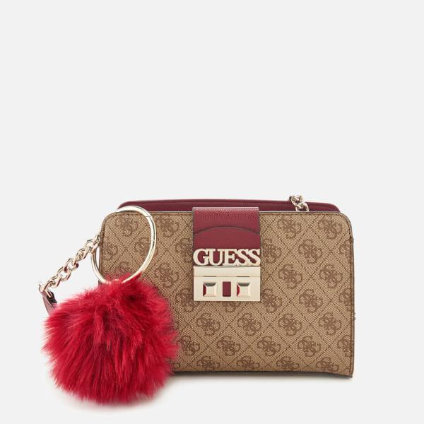 cdcdc8b8dac Guess Women s Retro Lux Cross Body Bag - Brown Womens ...