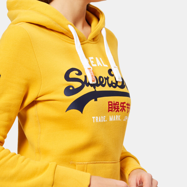 Superdry Women's Vintage Logo Bonded Satin Entry Hoodie - Golden Ochre: Image 31