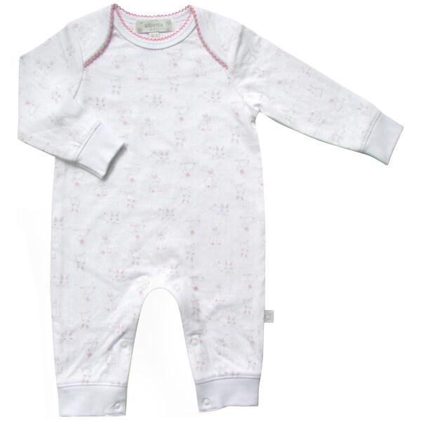Albetta Bunny Print Babygrow - 0-3 Months