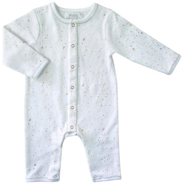 Albetta Confetti Print Babygrow - Gold - 0-3 Months