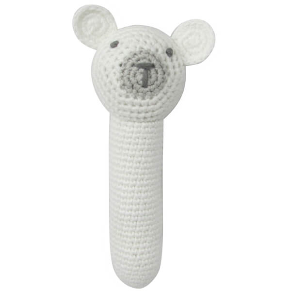 Albetta Crochet Polar Bear Stick Rattle