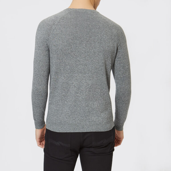 Grey Jumper Grit Label Orange Superdry Ash Crew Men's Cotton Neck qanf81