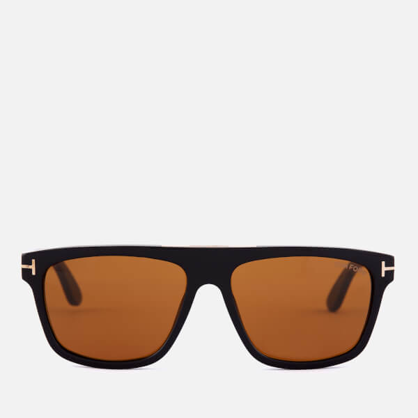 Tom Ford Men's Cecilio Sunglasses - Shiny Black/Brown