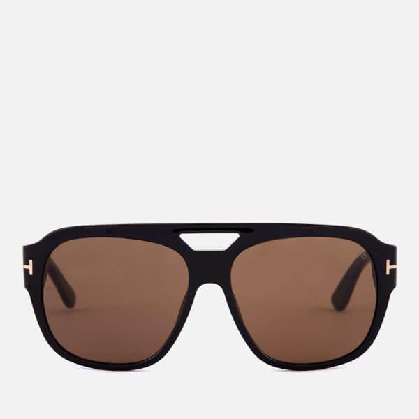 Tom Ford Men's Bachardy Sunglasses - Shiny Black/Roviex