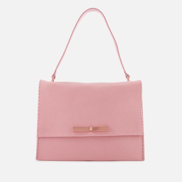 c8030f8a2a59 Ted Baker Women s Jessi Concertina Leather Shoulder Bag - Dusky Pink  Image  1