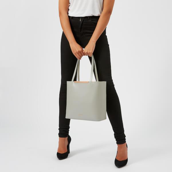 d9e5aaf8735dcf Ted Baker Women s Melisa Core Leather Large Shopper Bag - Grey  Image 3