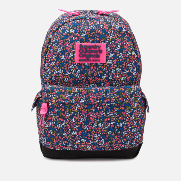 ea28c248ca Superdry Women s Print Edition Montana Backpack - American Ditsy Blue   Image 1