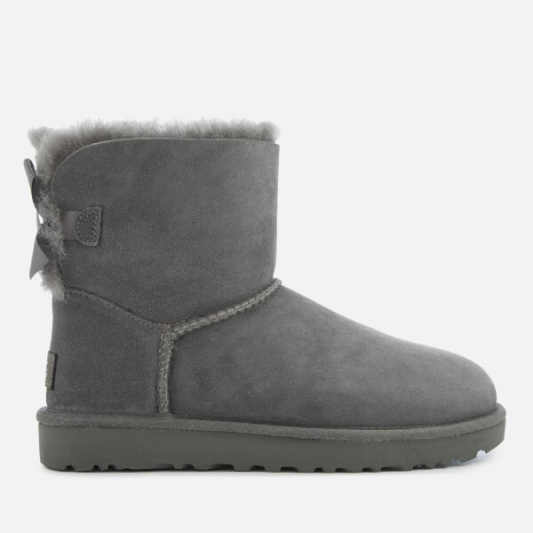 UGG Women's Mini Bailey Bow II Sheepskin Boots - Grey: Image 1