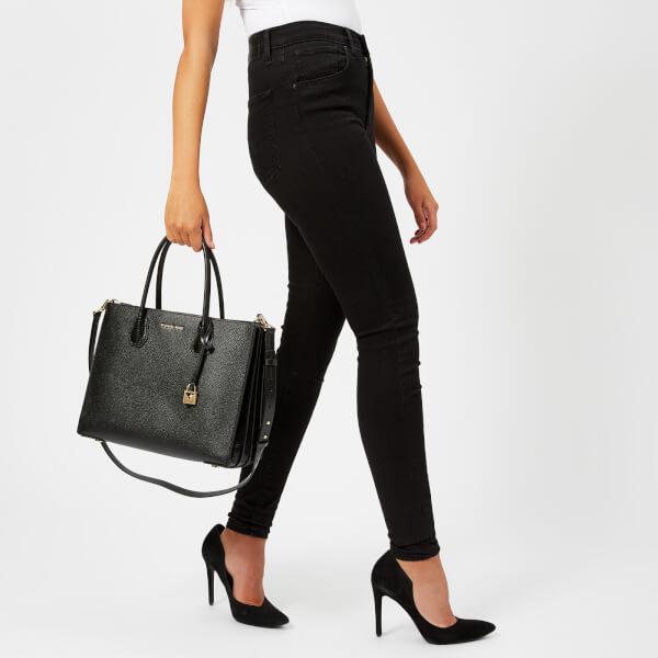 25ec1386febd MICHAEL MICHAEL KORS Women s Mercer Large Convertible Tote Bag Lizard -  Black  Image 3