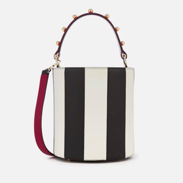Les Petits Joueurs Women's Mini Olivia Stripes Bag - Black/White