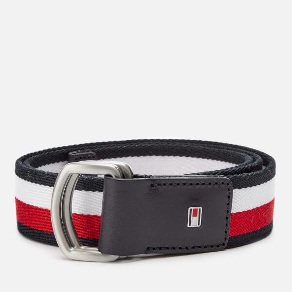 dde1d7074d2c Tommy Hilfiger Men s D-Ring Webbing Belt - Navy White Red  Image