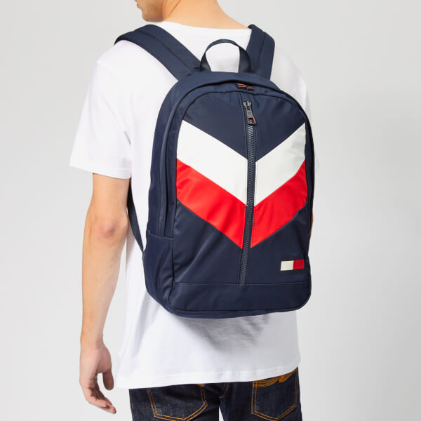 Tommy Hilfiger Men s Tommy Chevron Backpack - Navy Red White  Image 3 58eab9b50fd95