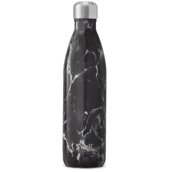 S Well Black Marble Water Bottle 750ml Free Uk Delivery