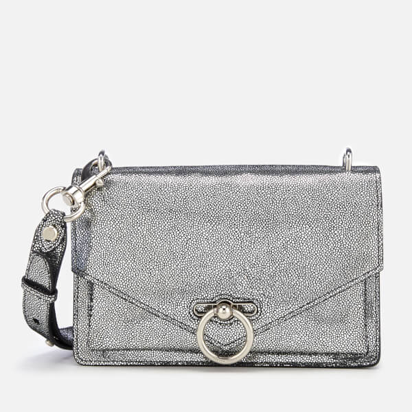Rebecca Minkoff Women's Metallic Jean Medium Shoulder Bag - Silver