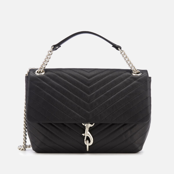 Rebecca Minkoff Women's Edie Flap Shoulder Bag - Black