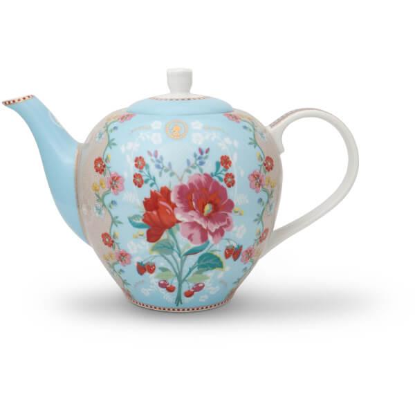 Pip Studio Rose Teapot - Blue