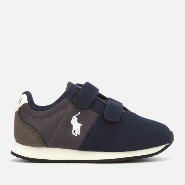 Polo Ralph Lauren Toddlers' Brightwood EZ Velcro Runner Style Trainers - Navy/Charcoal