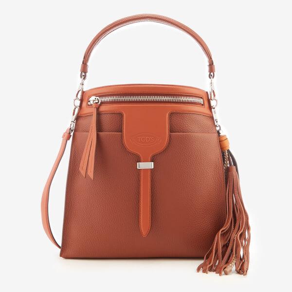 Tod's Women's Bucket Tassel Bag - Tan