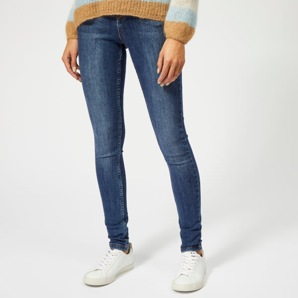 Gestuz Women's Emily High Waist Skinny Jeans - La Blue