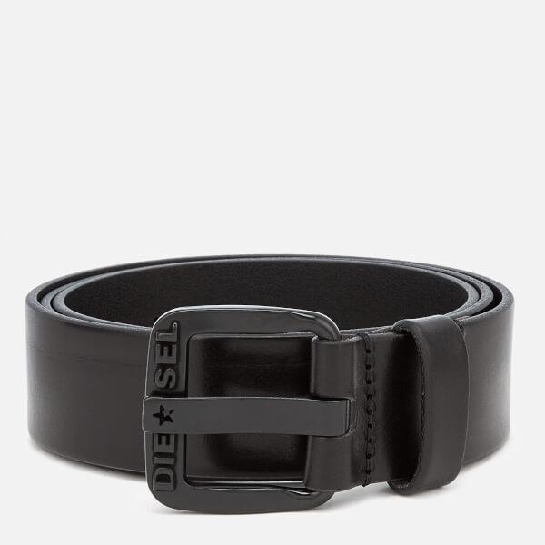 迪赛 男士 腰带 Diesel Men's B-Star Leather Belt - Black