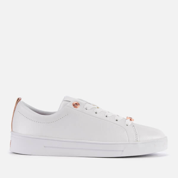 59d31fa9dbca Ted Baker Women s Gielli Leather Cupsole Trainers - White  Image 1