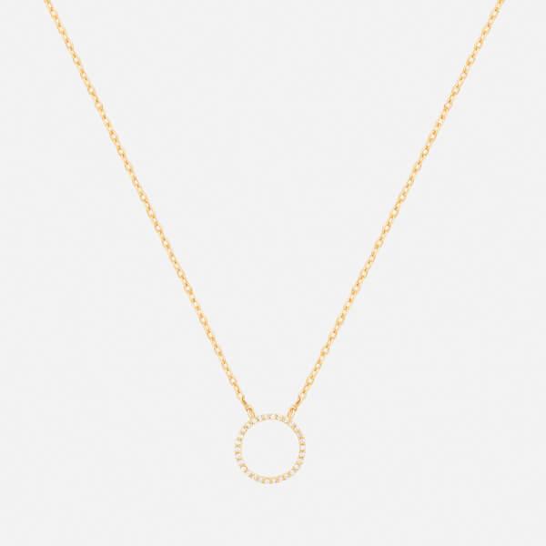 Astrid & Miyu Women's Tuxedo Circle Necklace - Gold