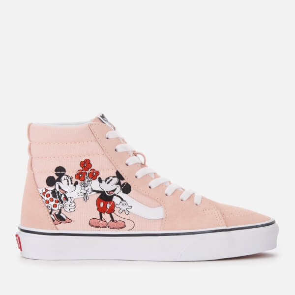 a208e79346 Vans Women s Disney Mickey   Minnie Sk8-Hi Top Trainers - Pink  Image 1