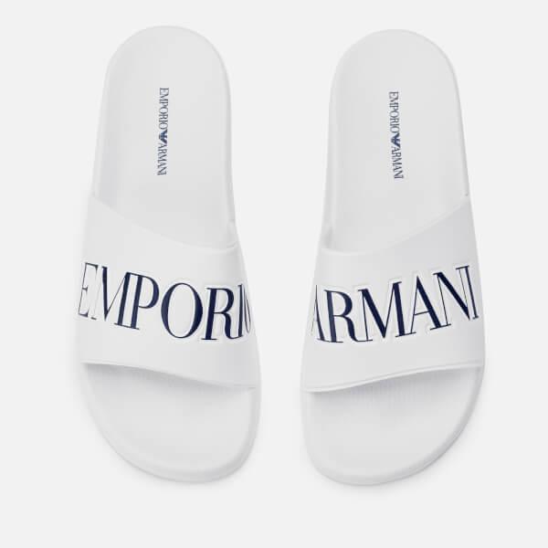 Emporio Armani Men's Zadar Slide Sandals - White/Night