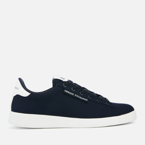 Armani Exchange Men's Canvas Low Top Trainers - Navy/White