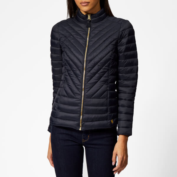 Joules Women's Elodie Chevron Quilted Jacket - Marine Navy