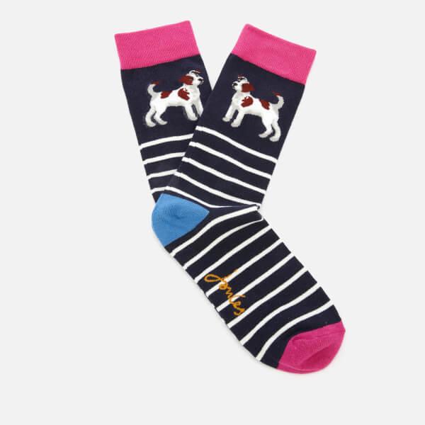 Joules Women's Brilliant Bamboo Single Socks - Navy Terrier