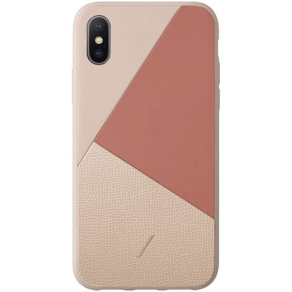 Native Union Clic Marquetry iPhone Xs Case - Rose