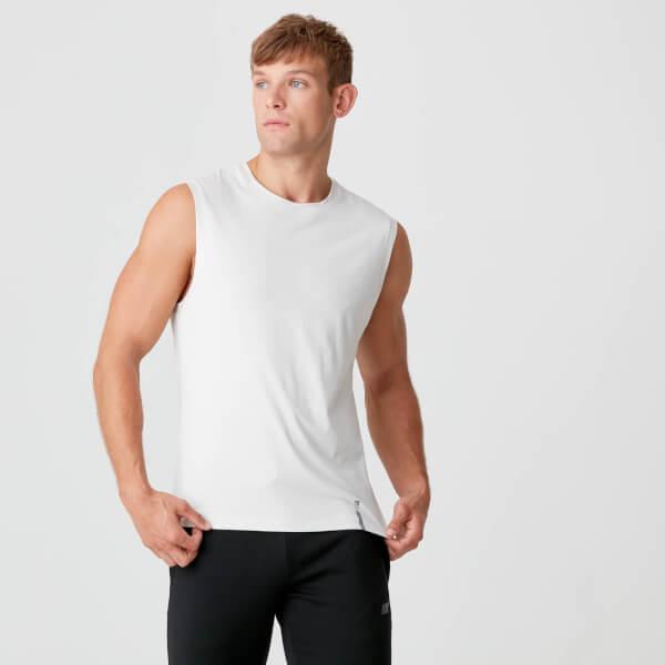 Myprotein Luxe Classic Sleeveless T-Shirt - Chalk
