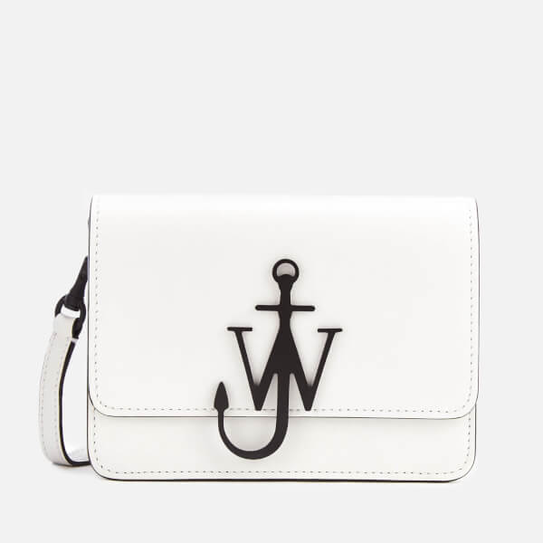 JW Anderson Women's Mini Logo Purse - White/Black