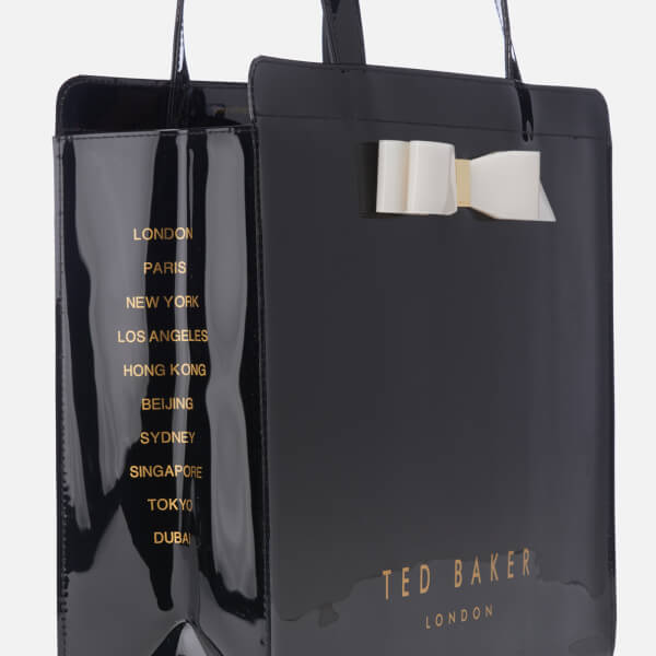 8760beb1332 Ted Baker Women s Almacon Bow Detail Large Icon Bag - Black  Image 4