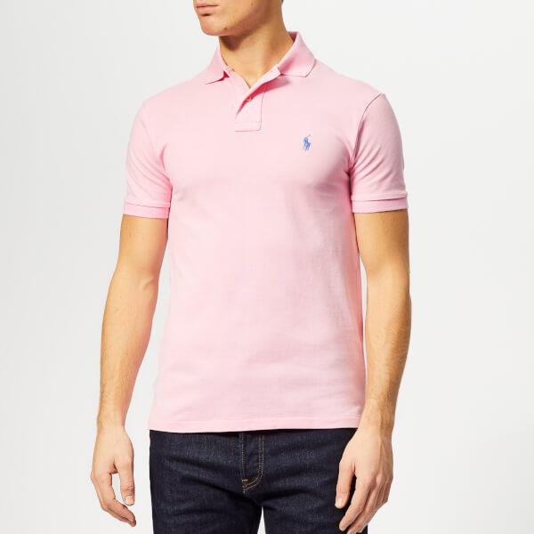 Polo Ralph Lauren Men s Basic Pique Slim Fit Polo-Shirt - Taylor Rose  Image 5080a4425bb