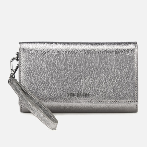 bfe7063ecdc1 Ted Baker Women s Holli Textured French Purse - Gunmetal  Image 1