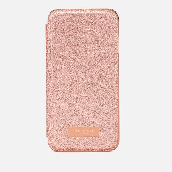Ted Baker Women's Glitsie Glitter iPhone 8 Mirror Case - Baby Pink