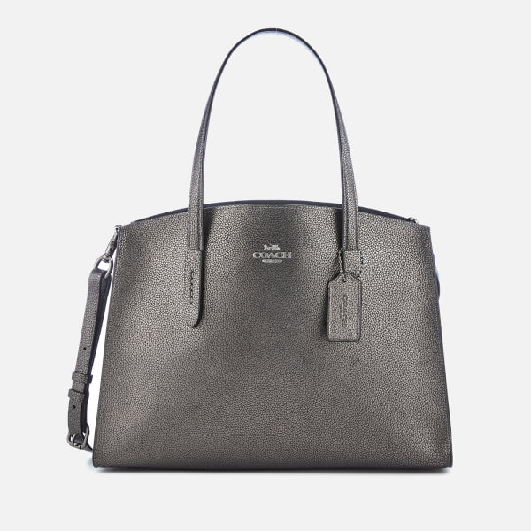 Coach Women's Metallic Leather Charlie Carryall Bag - Metallic Graphite