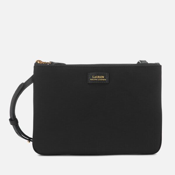 Lauren Ralph Lauren Women's Chadwick Double Zip Medium Cross Body Bag - Black