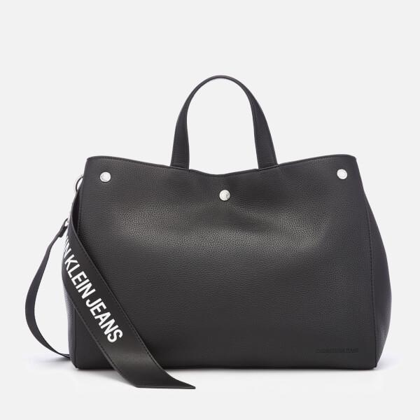 Calvin Klein Women s Logo Banner East West Bottom Tote Bag - Black  Image 1 67b46c3dc5