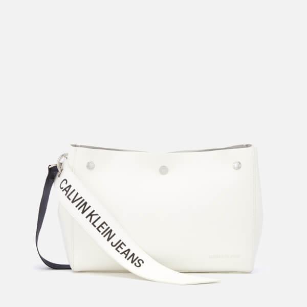 7c9e62d308 Calvin Klein Women's Logo Banner Shoulder Bag - Bright White: Image 1