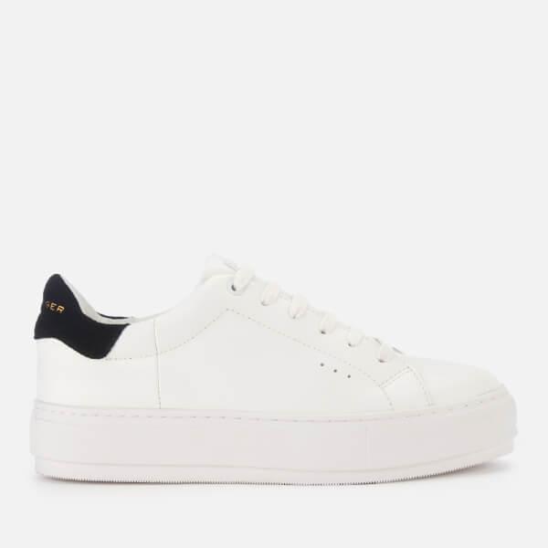 Kurt Geiger London Women's Laney Leather Flatform Trainers - White/Black