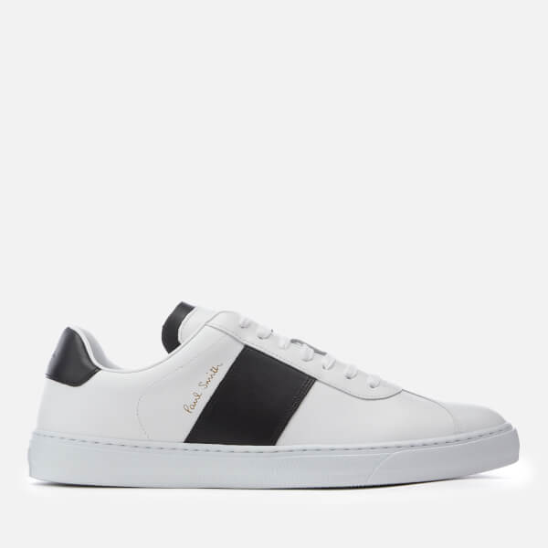 Paul Smith Men's Levon Leather Cupsole Trainers - White/Black