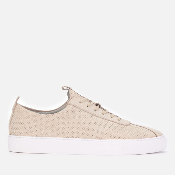 Grenson Men's Sneaker 1 Suede Trainers - Off White