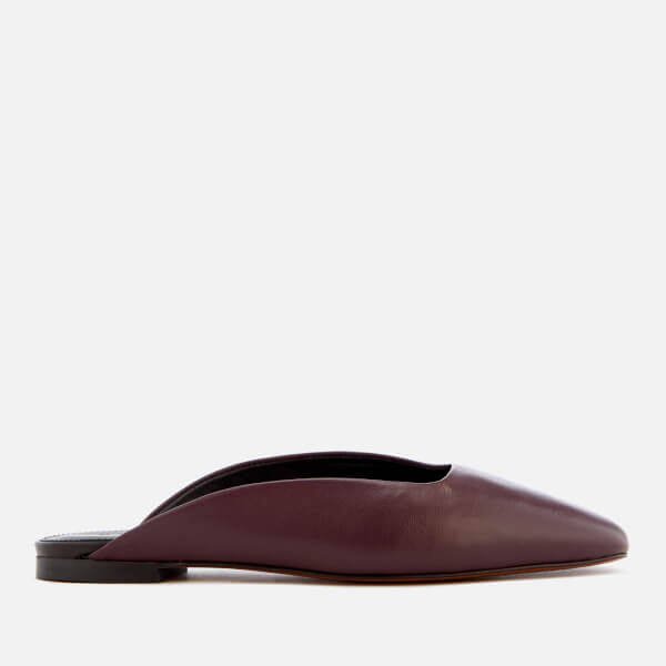 Whistles Women's Netley Slip-On Heeled Mules - Burgundy